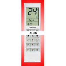 Vervangende afstandsbediening voor de airco's van Alpin